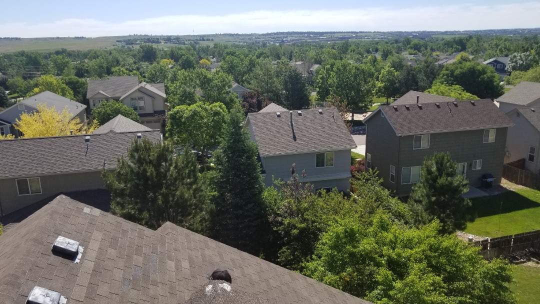 Parker, CO - We are meeting with the insurance adjuster today on this roof inspecting the roof for wind and hail damage from the storms this spring