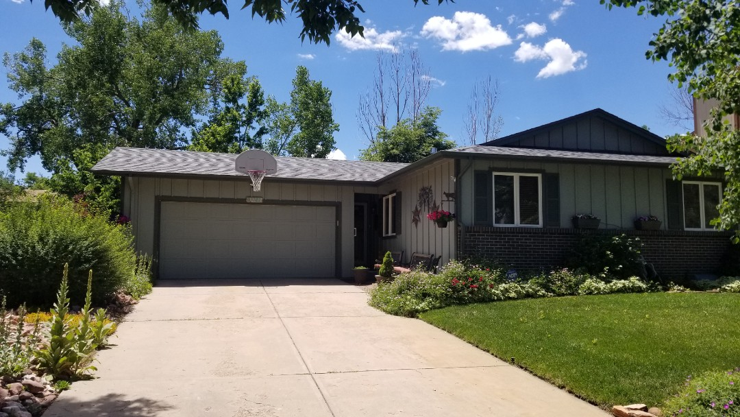 Aurora, CO - We are quoting full gutter replacement and downspout replacement for this house.