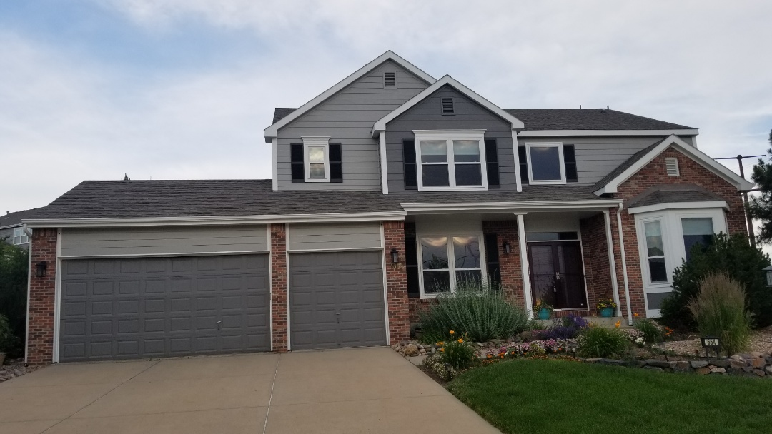 Castle Rock, CO - We are inspecting a roof for hail damage in Castle Pines and found enough hail damage to warrant a claim for this roof. The house is being sold and will need the roof replaced before the buyers take possession.