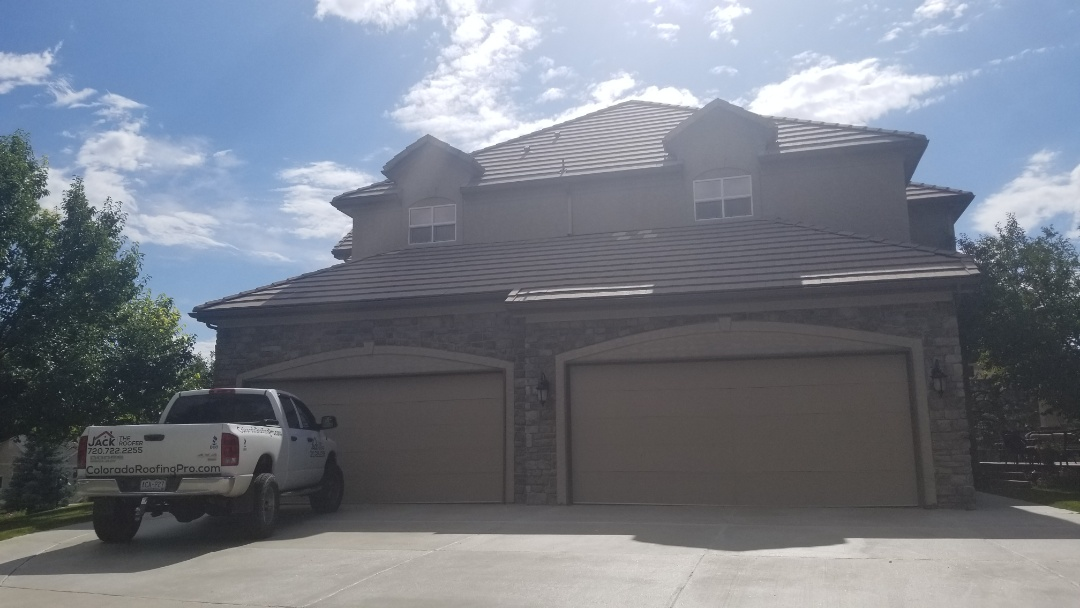 """Parker, CO - We are bidding a gutter replacement project where we replace 5"""" gutters and 2x3"""" downspouts with larger 6"""" gutters and 3x4"""" downspouts which are much more appropriate for a concrete tile roof to avoid rain water spilling over the gutters"""