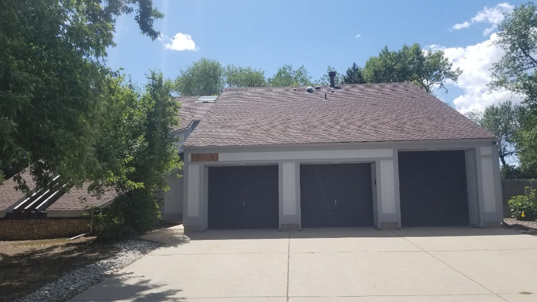 Littleton, CO - We are doing a roof repair in Lakewood where a rooftop air conditioning unit was removed. The unit was installed improperly and there have been many attempts to fix the roof leak previously