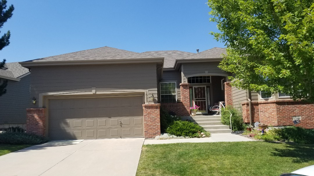 Castle Rock, CO - We inspected a roof here in Castle Pines and found hail damage to the roof requiring full roof replacement. We did not find hail damage to the gutters or paint