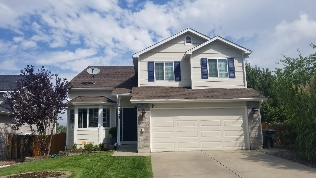 Parker, CO - We are inspecting this roof for hail damage and found some minor damage. We found damage to a window as well. This one won't require a full roof replacement