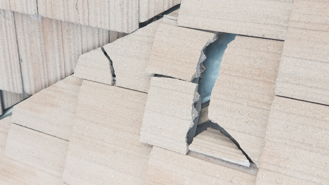 Littleton, CO - We are looking at a concrete tile roof that had damage, possibly from hail but more likely from age and walking on it. The roof tiles are discontinued Westile tiles that we need to find at a salvage yard