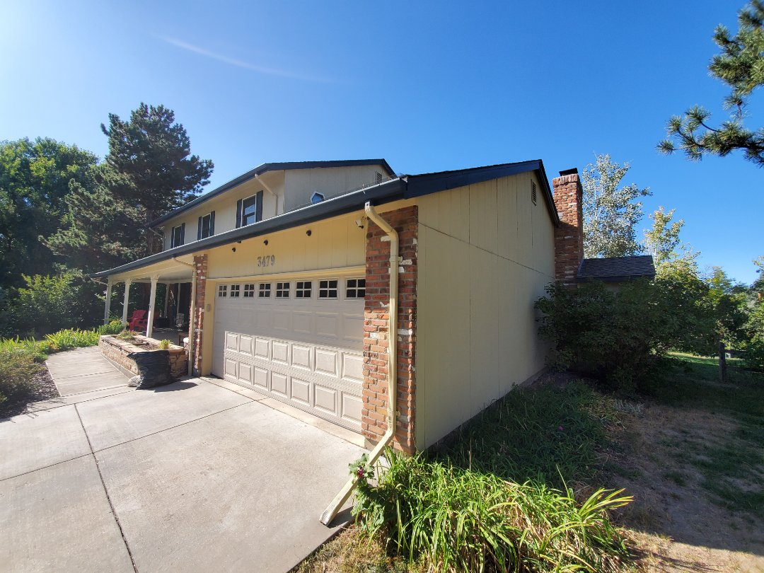 Centennial, CO - We are in Centennial, CO today looking to install replacement gutters and downspouts and do some fascia and soffit repair work