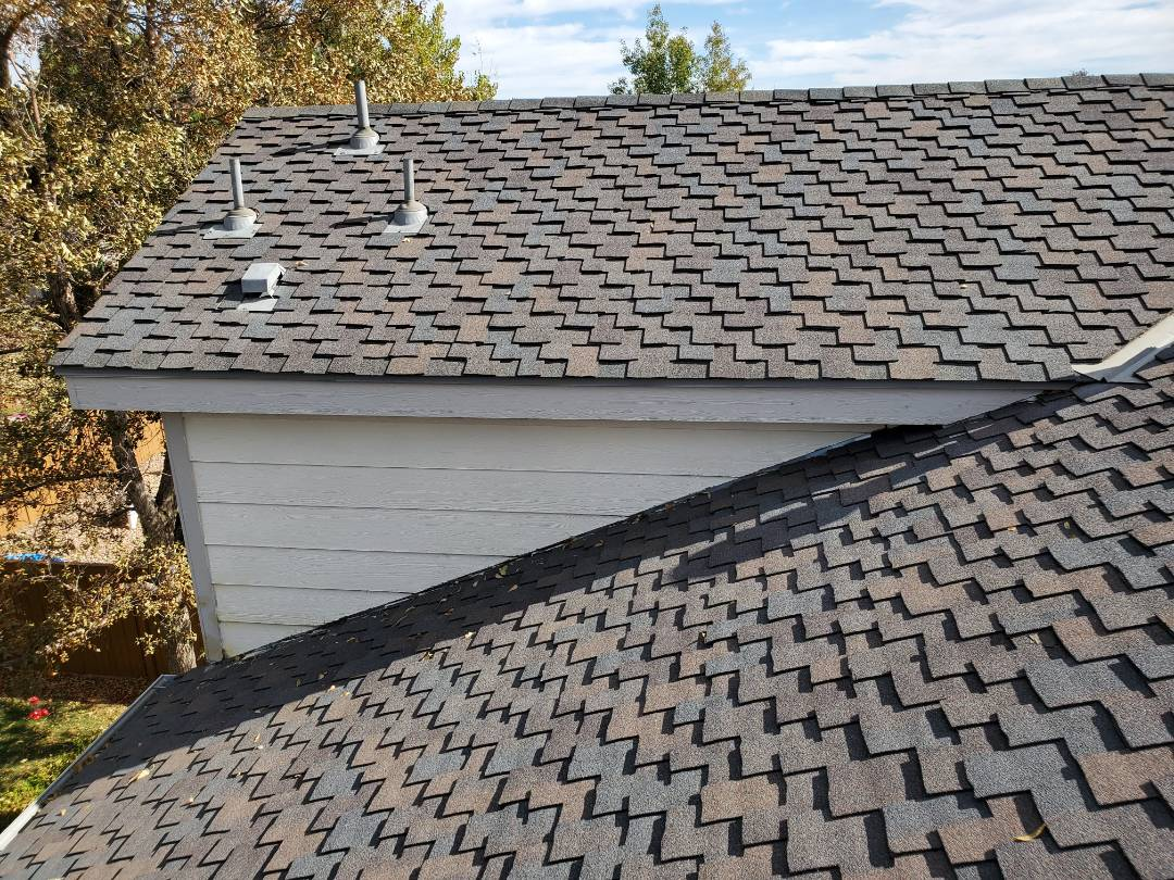 Littleton, CO - We are doing a roof repair on a house in Centennial that had hail damage to roof and gutters in the 2018 summer storm