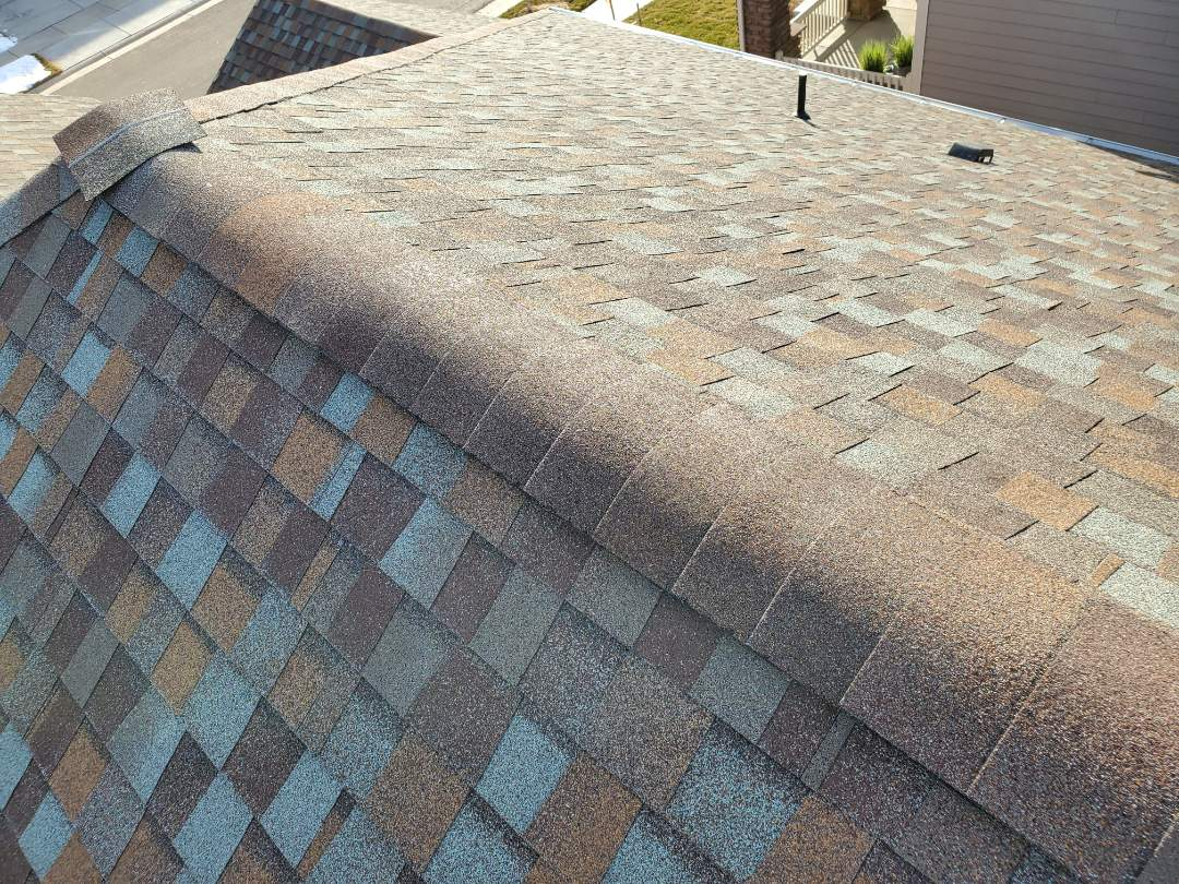 Parker, CO - We finished up a roof repair in Parker where some ridge shingles blew off in the last wind storm.