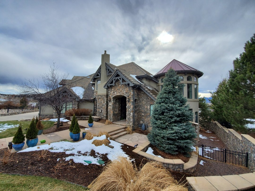Littleton, CO - We are quoting various gutter related repairs for this beautiful home in Highlands Ranch, CO.