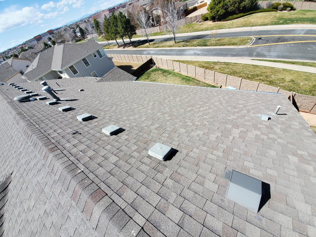 Denver, CO - We are doing a quote for a full roof replacement for the house in Parker. The roof is 20 years old and has been through multiple hail storms. We are hoping to get the insurance company to reroof the entire house.