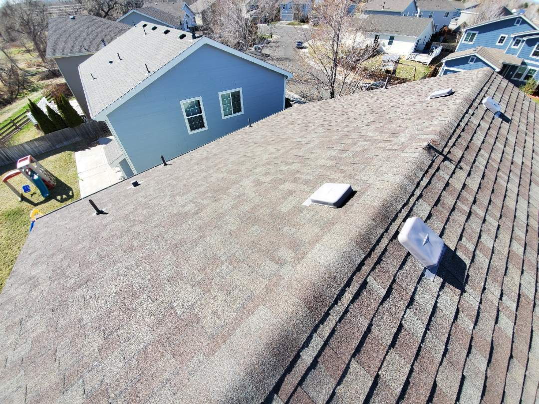 Englewood, CO - We are building a full roof replacement on this house in Centennial. The roof is 19 years old and is original with the house. It's been through a few hail storms but is not approved through insurance. We will also replace the gutters, some downspouts and do some facia work.