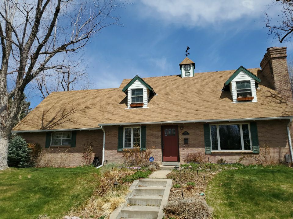 Littleton, CO - We are doing a roof inspection and a bid to replace this roof that has been on here for 20 years. There are wood Shake shingles underneath the first layer so all of it will need to come off and new osb decking will need to be installed.