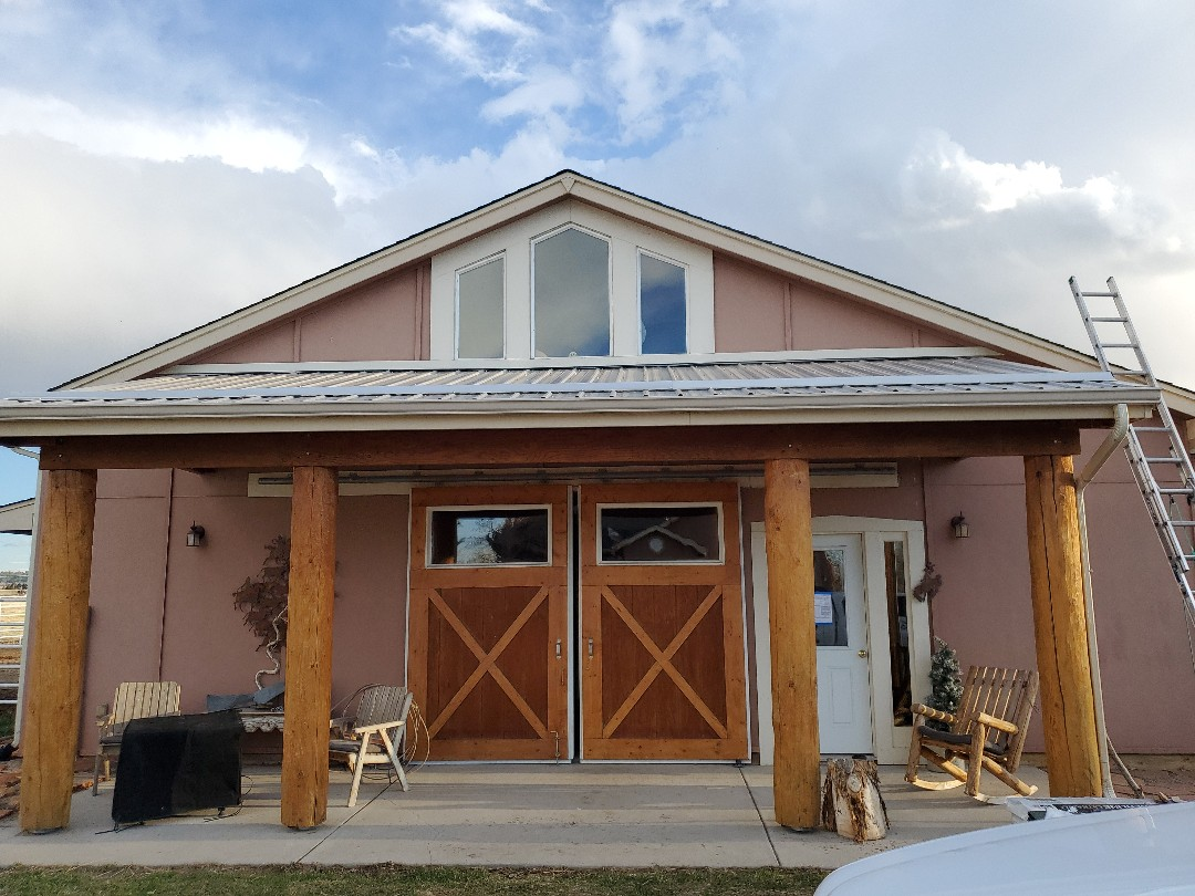 Centennial, CO - We are finishing up a roof replacement on this house in Franktown from the hail last year.