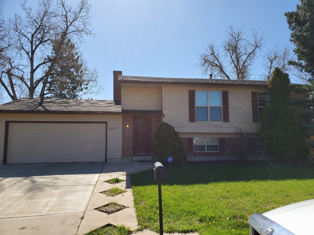 Aurora, CO - We are doing a roof inspection here on this house in Aurora. This roof needs to be replaced but will probably be done next year. In the meantime, some roof repairs will be done to mitigate water leaks from 2 areas on the roof.