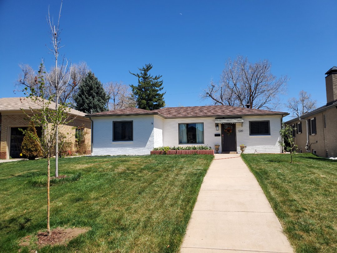 Centennial, CO - We are doing a roof inspection for hail damage from last year's storms on this house in Denver