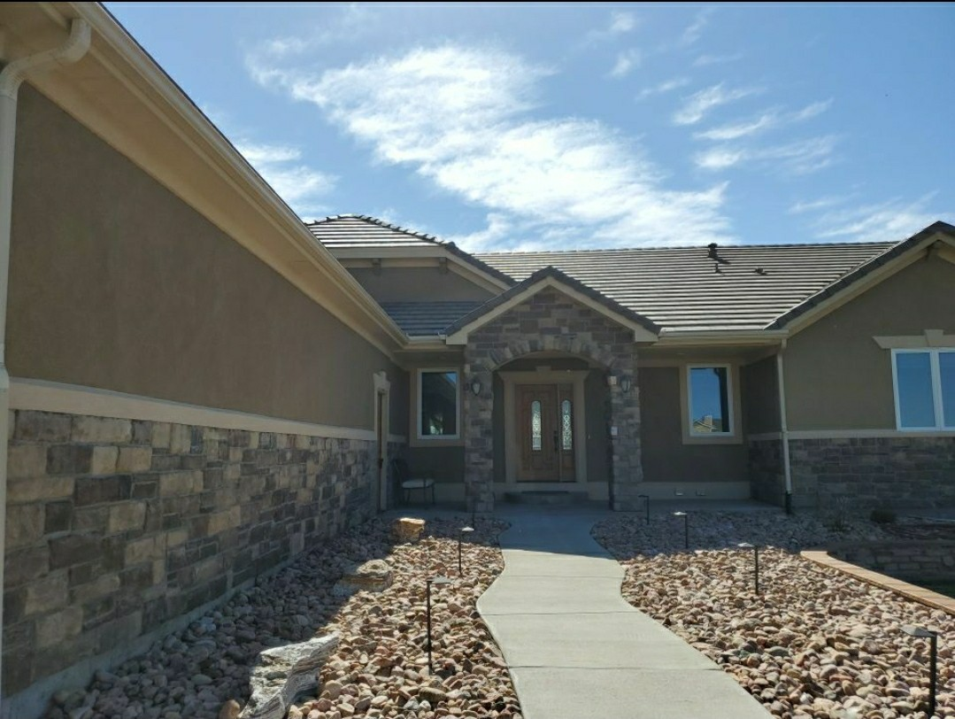 Elizabeth, CO - We are bidding a concrete tile roof repair for this house in Elizabeth