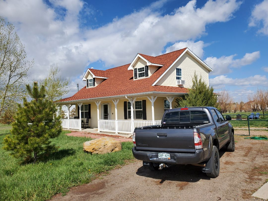 Elizabeth, CO - We are doing a full roof replacement and siding replacement and new gutters for this house in Elizabeth