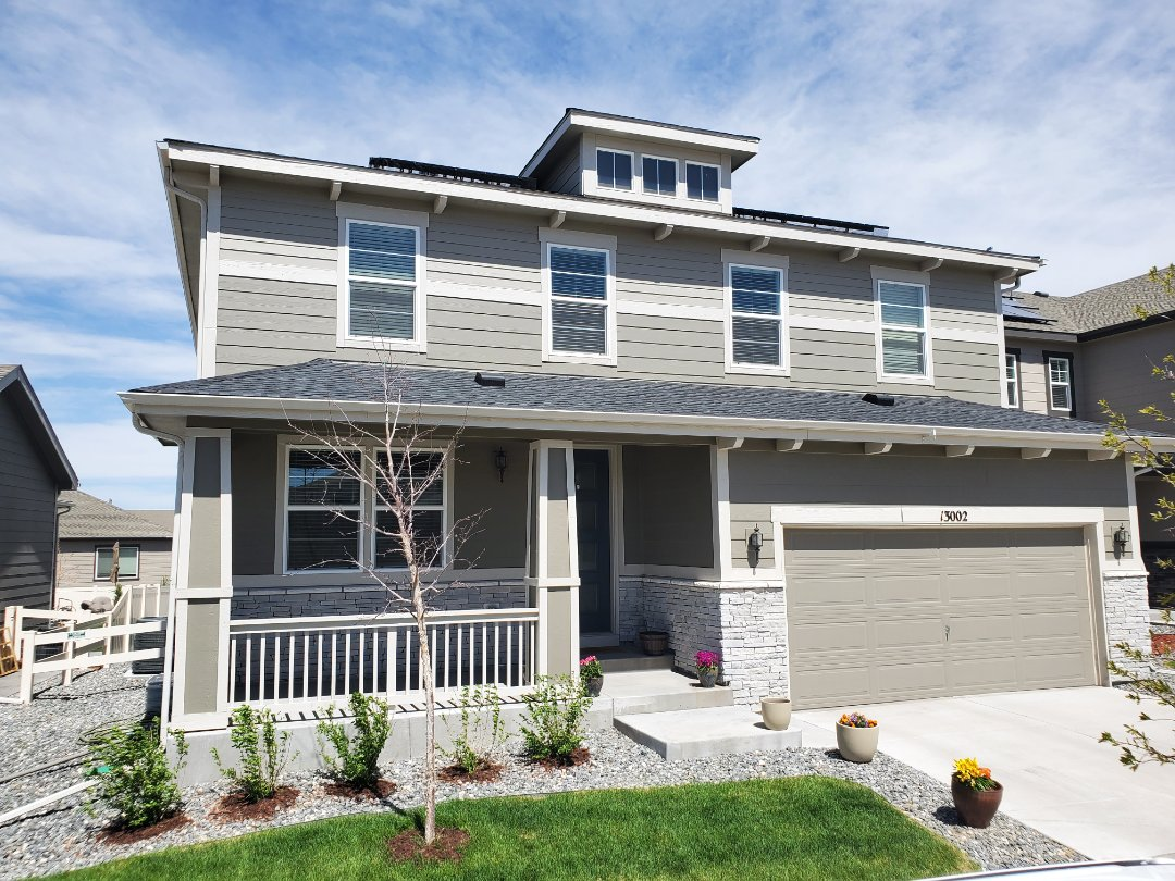 Littleton, CO - We are doing a roof inspection today for this house in Parker that has had some shingles blow off in some recent wind storms