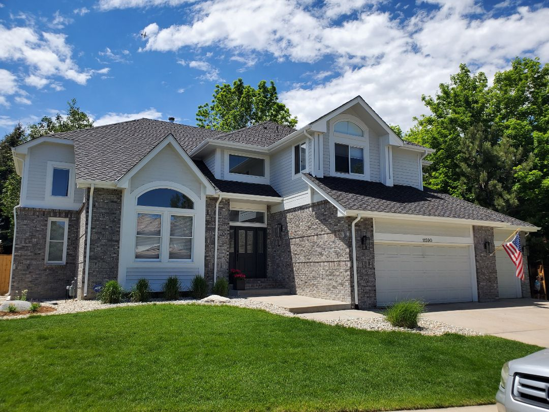 Castle Rock, CO - We are doing finalizing details for this full roof replacement in Englewood