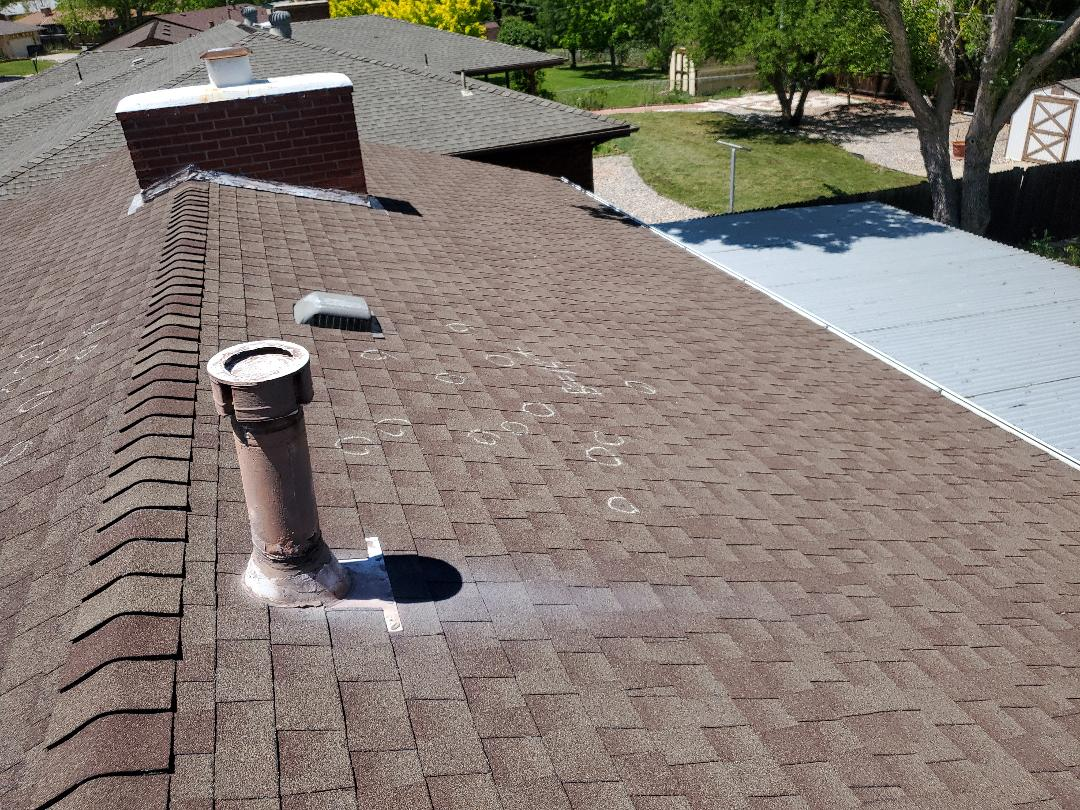 Littleton, CO - We are inspecting this roof in Denver for hail damage and possible replacement.
