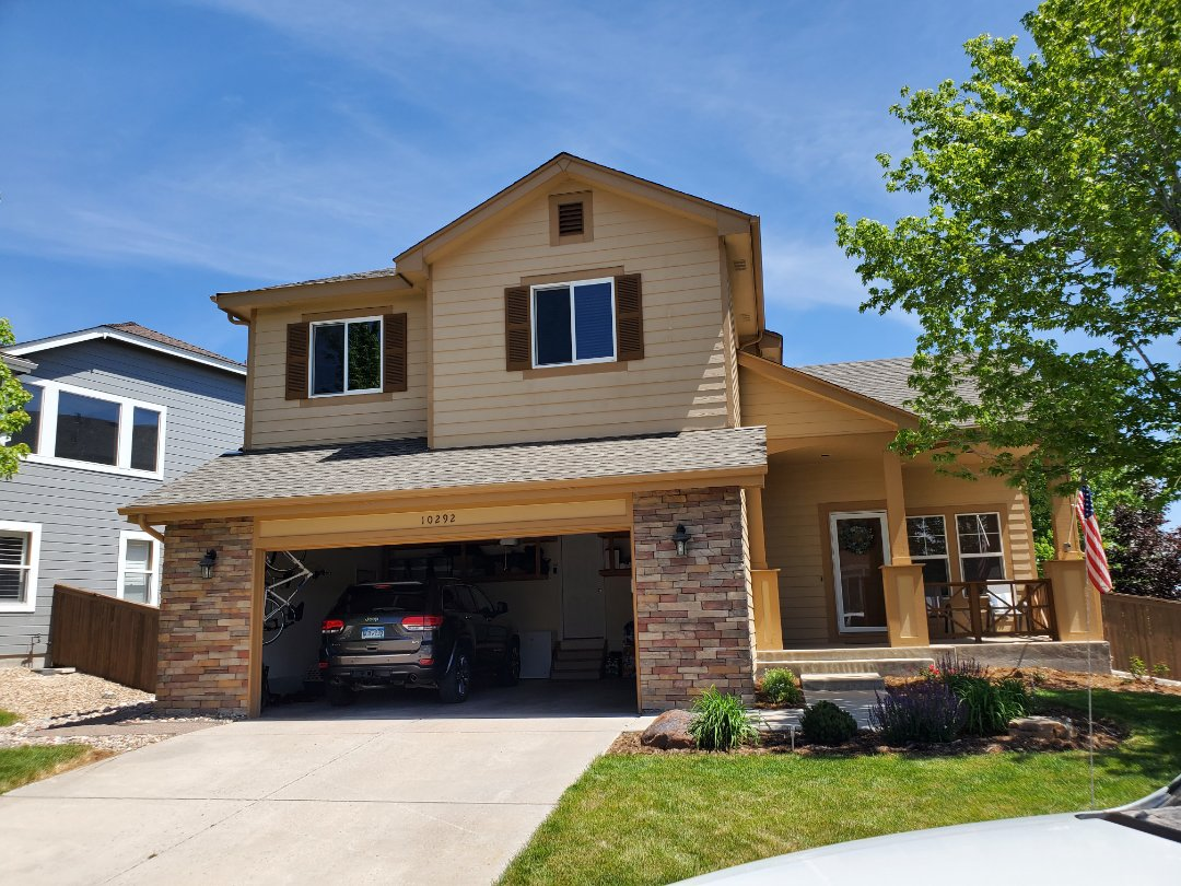 Littleton, CO - We are doing a roof inspection for a roof leak in Littleton that is coming in around his chimney