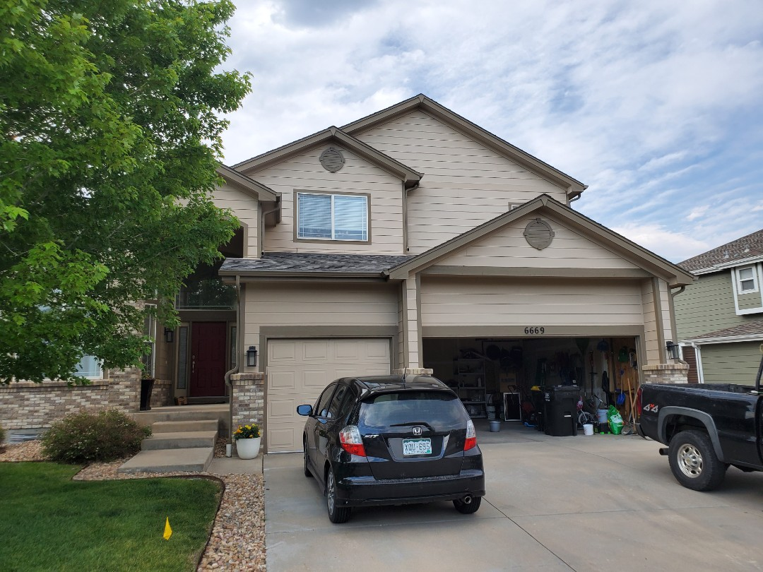 Castle Pines, CO - We are bidding to replace some gutters and redirecting some downspouts on this house in Castle Pines CO