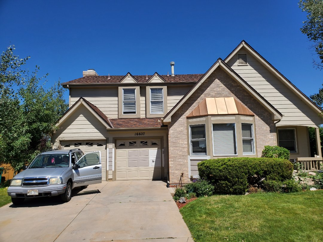 Centennial, CO - We are finalizing some details regarding this roof replacement in Centennial, CO and adding some gutter guards