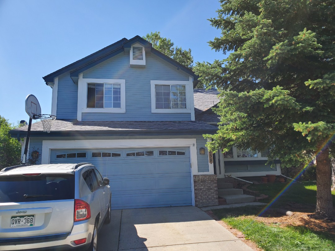 Castle Rock, CO - we are doing a roof inspection after the wind storm a few weeks ago in Castle Rock. There were some tree branches that fell on the roof and debris in the gutters that we cleaned out