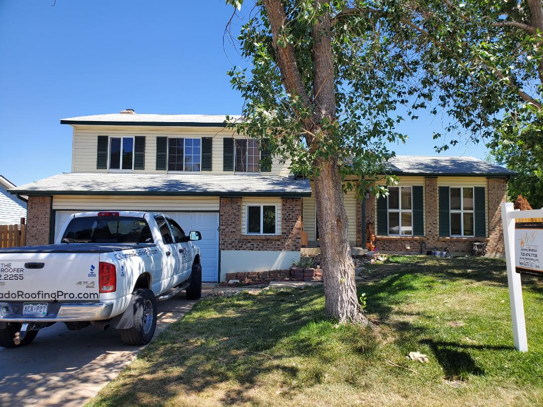 Littleton, CO - we are doing a bid for a full roof replacement for this house in Littleton that is going to be sold in the next few weeks. There was some wind and hail damage to the roof previously