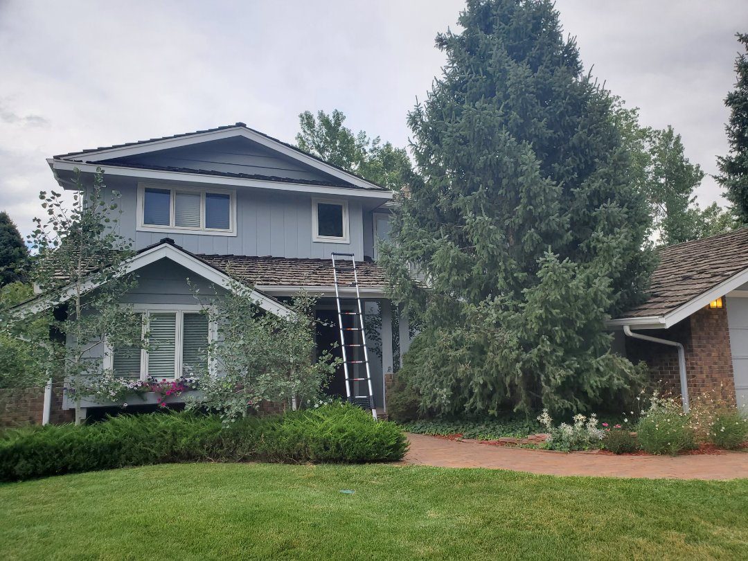 Centennial, CO - We are doing a roof inspection for this house in Centennial that has a wood shake roof that needs some roof repairs