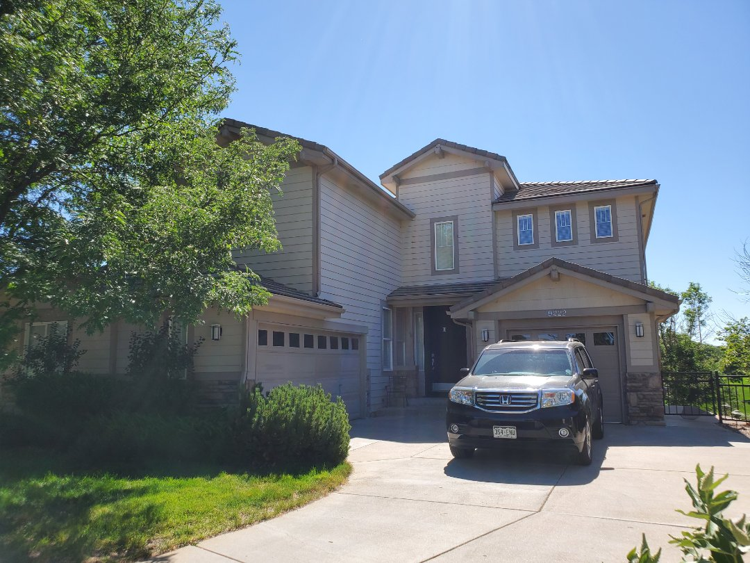 Littleton, CO - We are doing a roof and gutters inspection for this house in Littleton, CO. We will be installing new gutters and downspouts before the painters come in a few weeks.