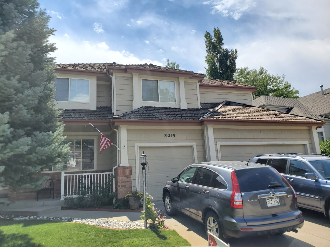 Parker, CO - We are meeting with an insurance adjuster for this house in Parker that might have some hail damage