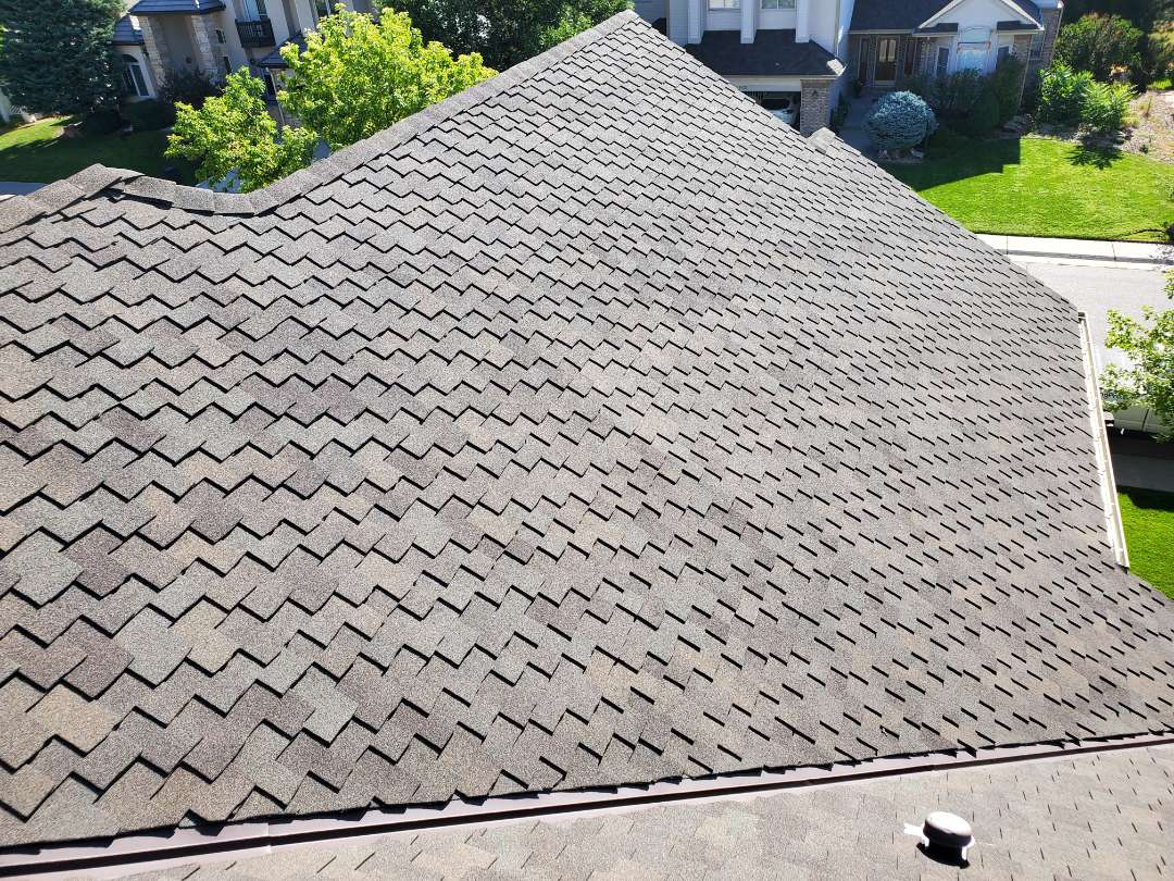 Parker, CO - We are doing a roof repair for this house in Englewood. There is some flashing that needs to be replaced on this roof