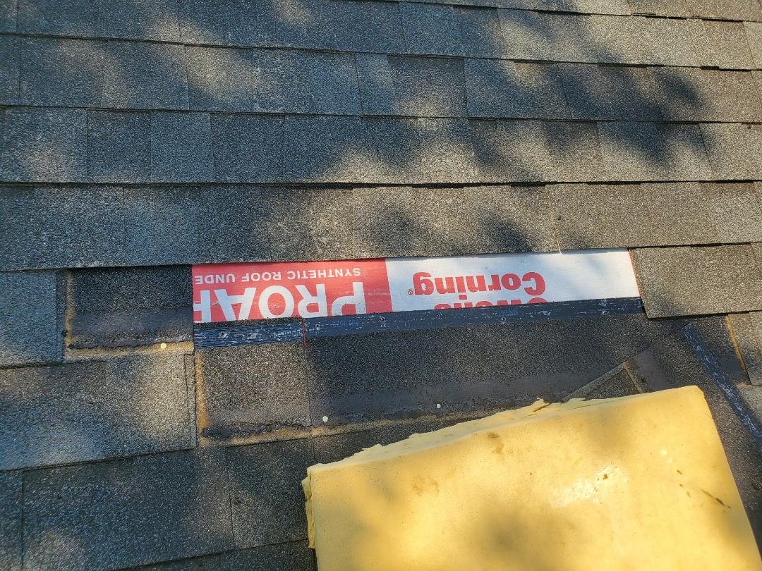 Denver, CO - We are doing a roof repair for this house in Denver that is going to be getting solar panels installed soon