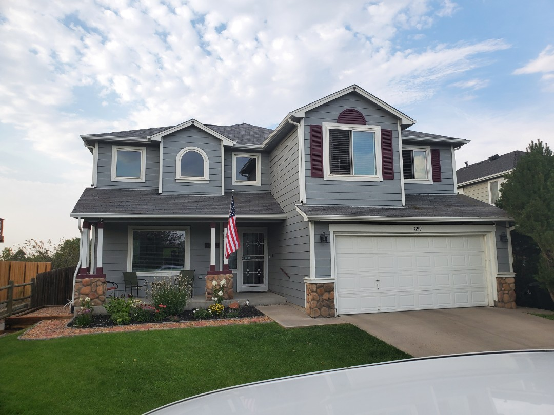 Parker, CO - We finished up some new 5 inch aluminum gutters on this house in Parker Colorado that had been leaking
