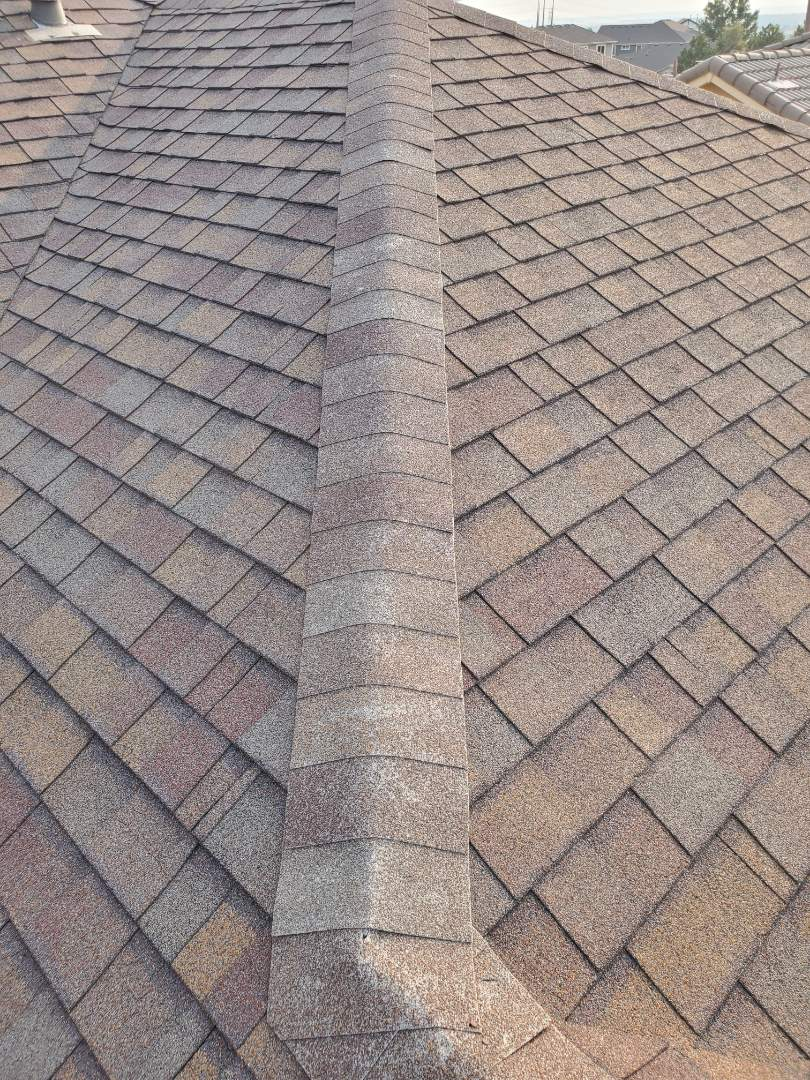 Castle Pines, CO - We are doing a roof inspection for a house in Castle Pines that is going to be sold next month.