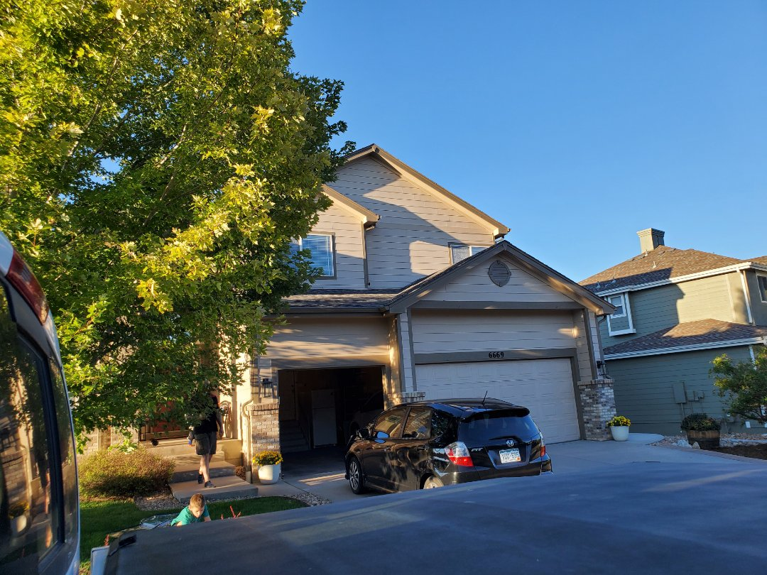 Castle Pines, CO - We are scheduling a roof repair and gutter replacement for this house in Castle Pines