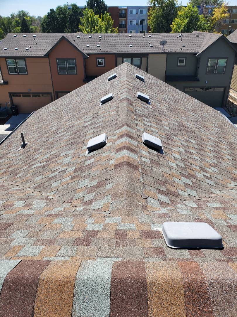 Denver, CO - We are doing a roof inspection for a house in Denver that is expected to be sold soon. There is some minor hail damage but we are not recommending full roof replacement. We are however recommending minor roof repairs