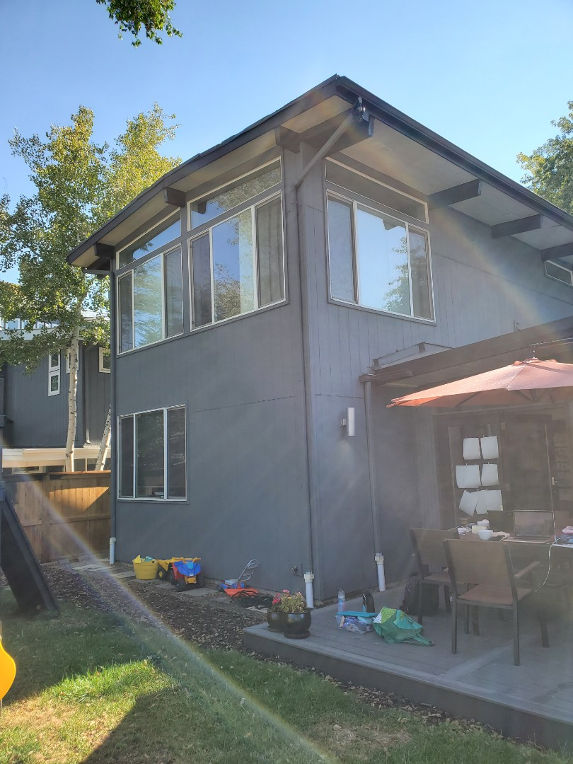 Denver, CO - We are doing a roof repair estimate and a new gutter proposal for this house in Denver