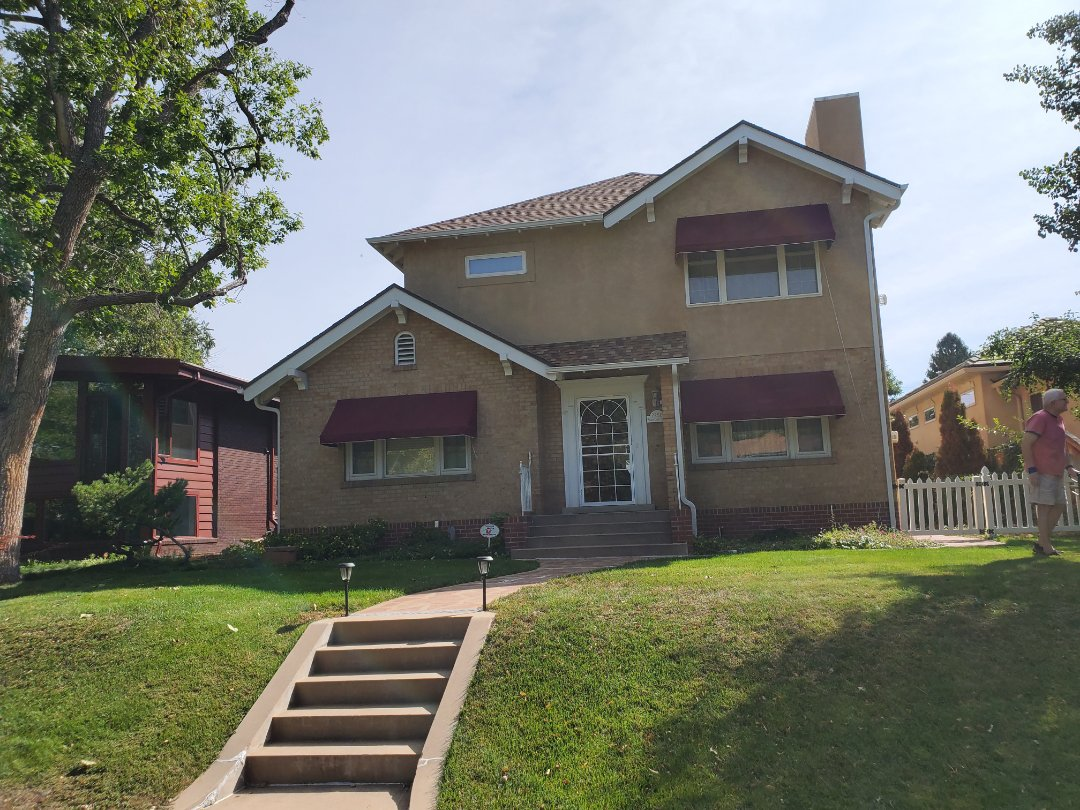 Denver, CO - We are doing a roof repair for this house in Denver that had damage done during previous repairs by another company to the heat coil and soffit damage