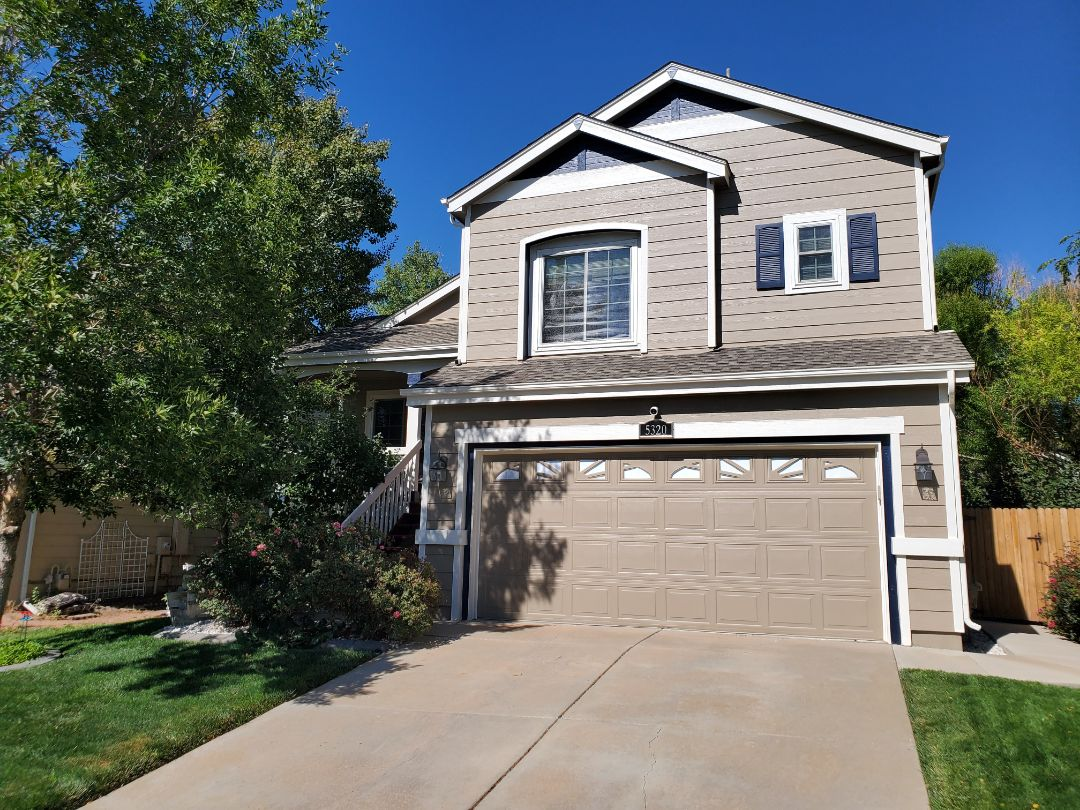 Centennial, CO - we are doing a roof inspection for a full roof replacement for this house in Centennial Colorado that had hail damage from the last few hail storms