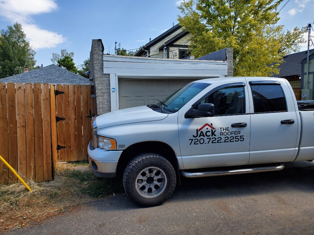 Denver, CO - We are doing a roof inspection for this garage roof in Denver that has leaking and needs to be replaced