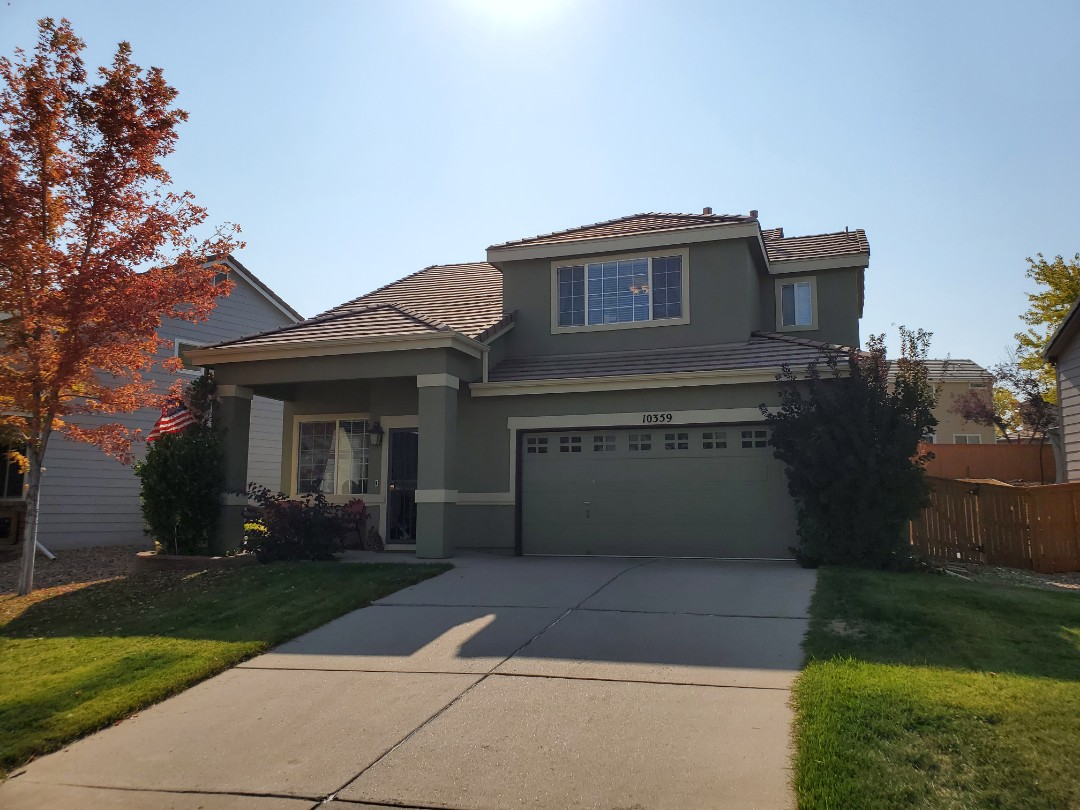 Littleton, CO - We are doing a roof inspection for this concrete tile roof in Highlands Ranch