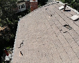 Littleton, CO - We are doing a free roof inspection for this concrete tile roof in Littleton that had some broken tiles due to painters that broke the tiles when they walked on them while doing the house painting.