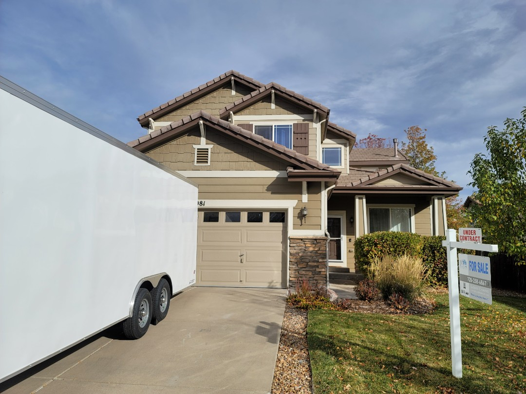 Parker, CO - We are finishing up a concrete tile roof repair for this house in Parker that is being sold and needed repairs for the buyer