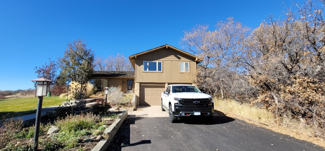 Castle Rock, CO - We are doing a roof inspection for this house in Castle Pines that has a leak. The wood shake roof is 50 years old in a few sections and needs full roof replacement