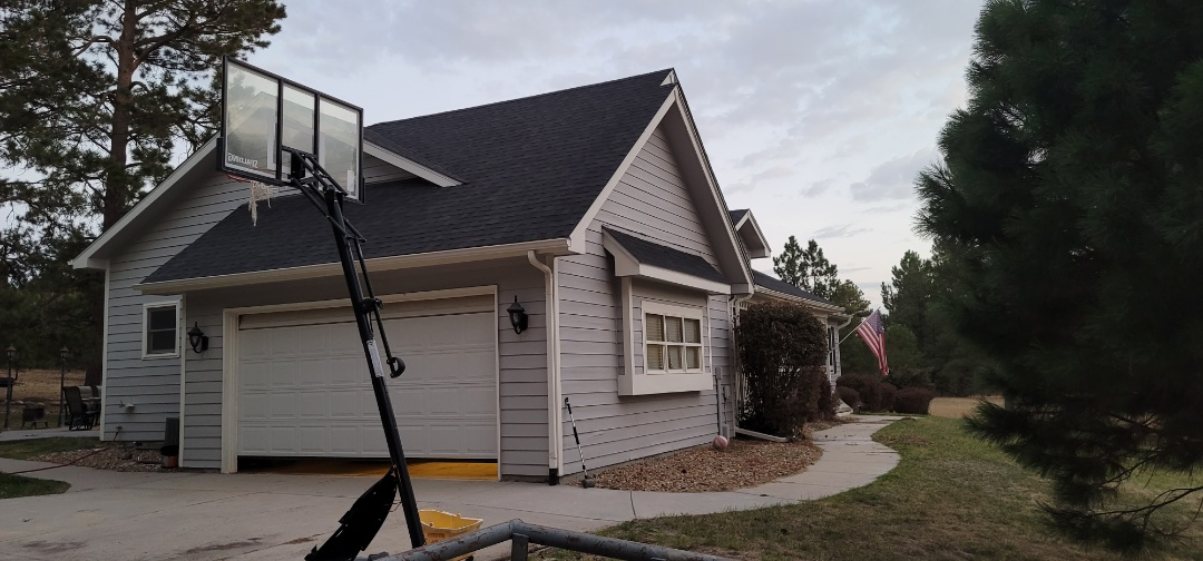 Elizabeth, CO - We are doing a roof inspection for this house in Elizabeth that has a roof leak around a skykight