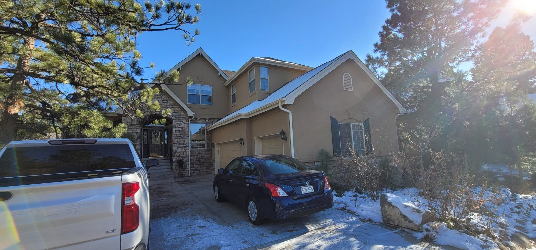 Castle Rock, CO - We are doing a roof inspection for this house in Castle Pines that has some hail damage and a bit of wind damage to the roof