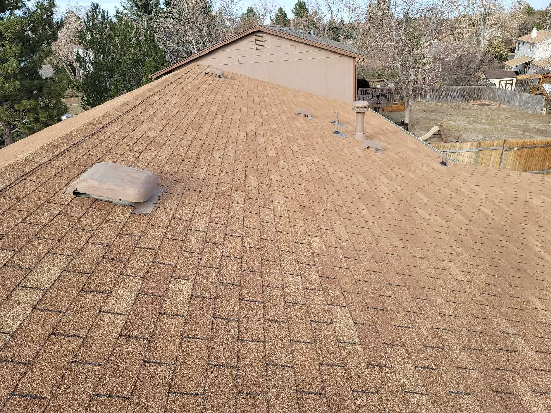 Aurora, CO - We are doing a roof inspection for hail damage for this house in Aurora