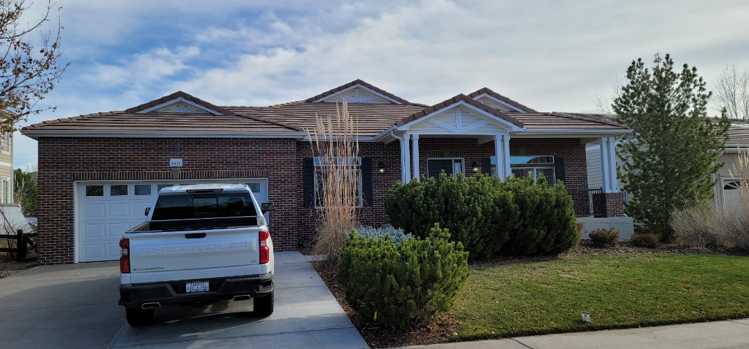 Aurora, CO - We are doing a roof repair for this concrete tile roof in Aurora