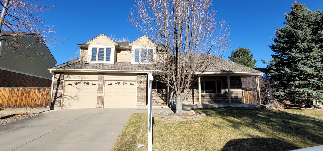 Littleton, CO - we are doing a roof inspection for this house that is being sold. There are stress fractures on the shingles and ventilation issues as well as a few roof flashing problems that need to be addressed before the house can be purchased or sold.